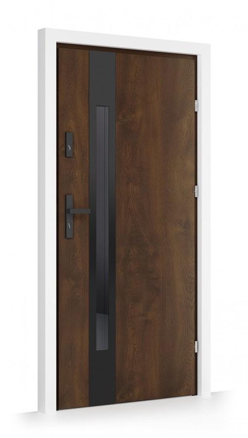 drzwi iporti orzech ciemny